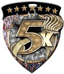 5K Medallion Color Shield Medal Awards