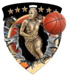 Basketball (Female) Medal Color Shield Medal Awards