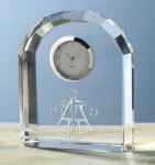 Faceted Arch Clock Executive Gift Awards
