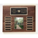 Walnut Perpetual Photo Plaque Fire and Safety Awards