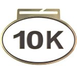 Large Oval 10K Oval Medal Awards