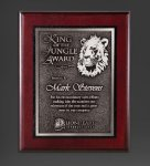 Cherry Finished Panel and Silver Tone Plate Religious Awards