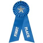 1st Place Rosette Ribbon Rosette Award Ribbons