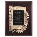 Antique Bronze Oak Leaf Plaque Sales Awards