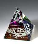 Rainbow Colored Pyramid Secretary Gift Awards