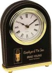 Black Leatherette Arch Desk Clock Secretary Gift Awards