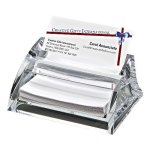 Clearylic Name Card Holder & Pad Paper  Secretary Gift Awards
