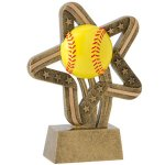 Softball Stars & Stripes Stars & Stripes Resin Trophy Awards