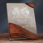 Wave Moonstone Plaque Stone Plaque Awards
