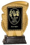 Gold & Black Rectangle Insert Holder Resin Award Wreath Awards