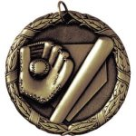 Baseball Bat and Glove XR Series Medal Awards